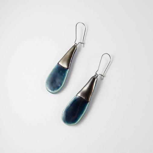 Náušnice - Tana šperky - keramika/platina - 8882886_