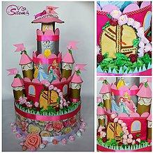 Detské doplnky - Plienková torta zámok pre princezné - 8884282_