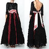 Šaty - Čierne lupienkové šaty Slavianka - 8881655_