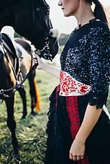 Šaty - Čierne lupienkové šaty Slavianka - 8881656_