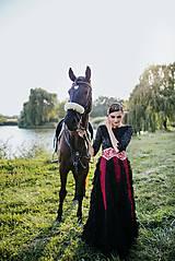 Šaty - Čierne lupienkové šaty Slavianka - 8881665_