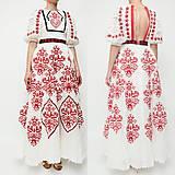 Šaty - Vyšívané šaty Slavianka - 8881801_