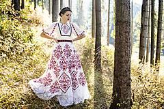Šaty - Vyšívané šaty Slavianka - 8881807_