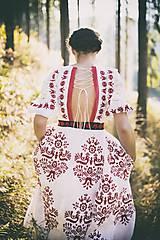 Šaty - Vyšívané šaty Slavianka - 8881809_