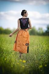 Iné oblečenie - Vyšívaná vesta Slavianka - 8882050_