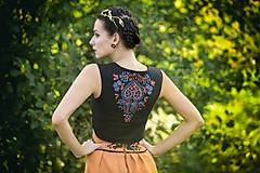 Iné oblečenie - Vyšívaná vesta Slavianka - 8882056_