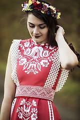 Šaty - Červené šaty Slavianka - 8883997_