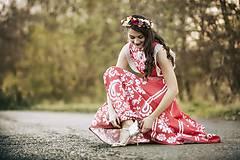 Šaty - Červené šaty Slavianka - 8883998_