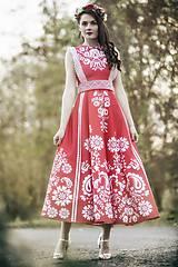Šaty - Červené šaty Slavianka - 8884001_