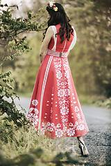 Šaty - Červené šaty Slavianka - 8884002_