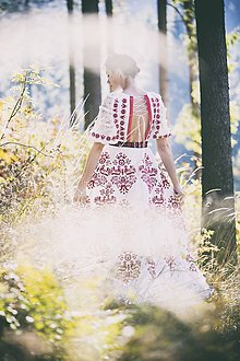 Šaty - Vyšívané šaty Slavianka - 8881808_