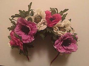 Ozdoby do vlasov - Bohatá kvetinová čelenka - 8883354_