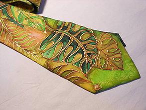 Doplnky - Maľovaná kravata - Les prales - 8881666_