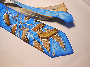 Doplnky - Maľovaná kravata - Listy - 8881681_
