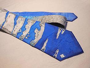 Doplnky - Maľovaná kravata - Vlny - 8881689_