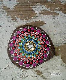 Dekorácie - Guľatá dúha - Na kameni maľované - 8879605_