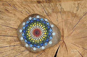 Dekorácie - Farebná trojka - Na kameni maľované - 8879612_