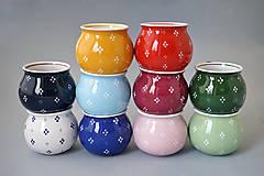Nádoby - Buclák 8 cm 4puntík- různá barevná provedení - 8883937_