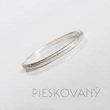 Prstene - MiniMe / Basic (Pieskovaný) - 8883144_