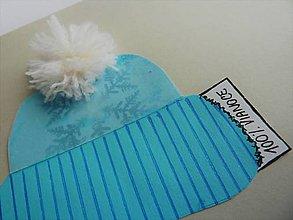 Papiernictvo - modrá čiapka - 8881988_