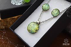 Sady šperkov - Zlatožltá sada sklenených šperkov - 8879512_