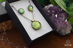 Sady šperkov - Zlatožltá sada sklenených šperkov - 8879513_