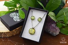 Sady šperkov - Zlatožltá sada sklenených šperkov - 8879514_