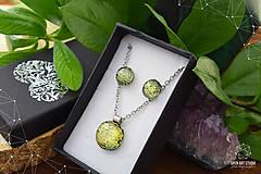 Sady šperkov - Zlatožltá sada sklenených šperkov - 8879516_