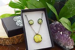 Sady šperkov - Zlatožltá sada sklenených šperkov - 8879517_
