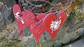Dekorácie - Vianočné srdiečka II - 8883849_