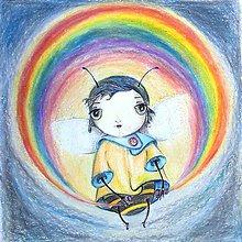 Kresby - Kamarátka Nádej - Ilustrácia, Reprodukcia - 8880828_