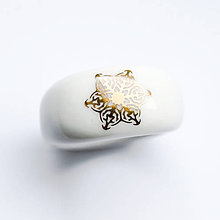 Prstene - Prsteň zlatá vločka / RING RING - gold - 8883356_
