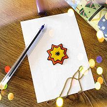 Magnetky - ★ Vianočná magnetka cartoon (hviezda) - 8883275_