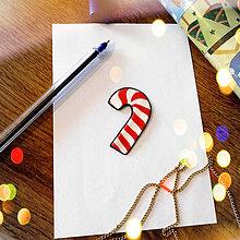 Magnetky - ★ Vianočná magnetka cartoon (vianočné lízatko) - 8884035_