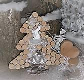 závesná dekorácia: Stromček s anjelikom