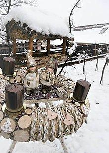 Dekorácie - adventný veniec Janko a Marienka - 8884962_