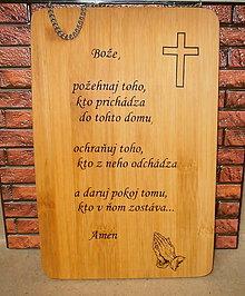 Dekorácie - drevená tabuľka... - 8888522_