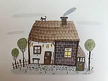 - Chalúpka ilustrácia / originál maľba  - 8884853_