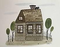 - Chalupka 13 Čičmanska ilustrácia / originál maľba  - 8884894_