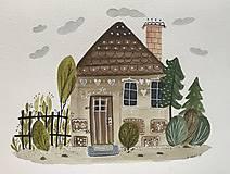 - Chalupka 9 perníkov ilustrácia / originál maľba  - 8884899_