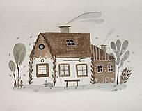 - Chalupka 11 rozprávková ilustrácia /originál maľba  - 8884907_