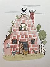 - Chalupka 14 kurín ilustrácia / originál maľba  - 8884909_