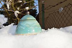 Nádoby - Dóza tyrkysová modrá z ľadového kráľovstva .... . - 8887779_