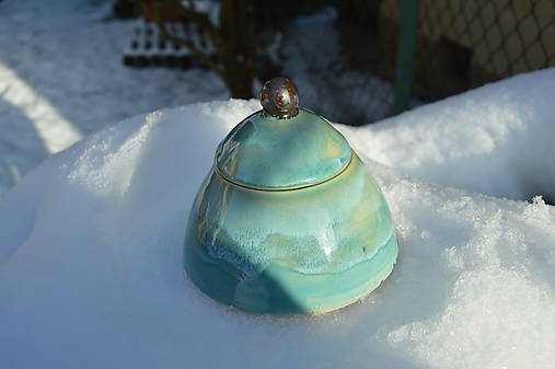 Dóza tyrkysová modrá z ľadového kráľovstva .... .
