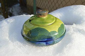 Nádoby - Cukornička zeleno modrá