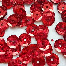 Galantéria - Flitre lomené  (8mm-červená-10g) - 8886728_