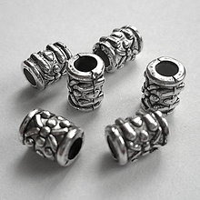 Korálky - Rúrka plast-st.strieb-1ks - 8887078_