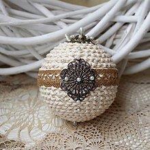Dekorácie - Vianočná guľa *71 - 8889005_