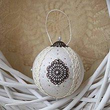 Dekorácie - Vianočná guľa *72 - 8889011_
