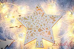 Dekorácie - Vianočná hviezda - 8885425_